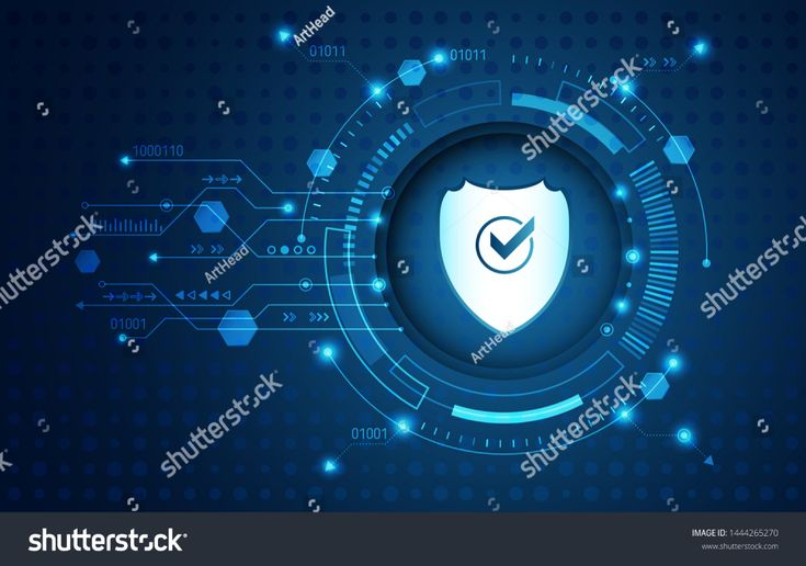 Abstract security digital technology background. Internet and networking protection. Cyber security concept, circuit board and padlock. System privacy…