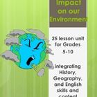 This 25 lesson unit is designed to help teach students about the many impacts humans have had on our environment.