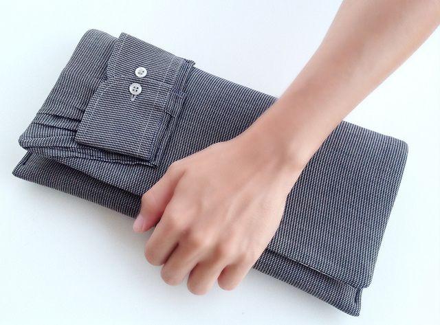 Shirt cuff clutch, Men shirt clutch, chemise homme pochette by Vallistic, www.vallistic.gr