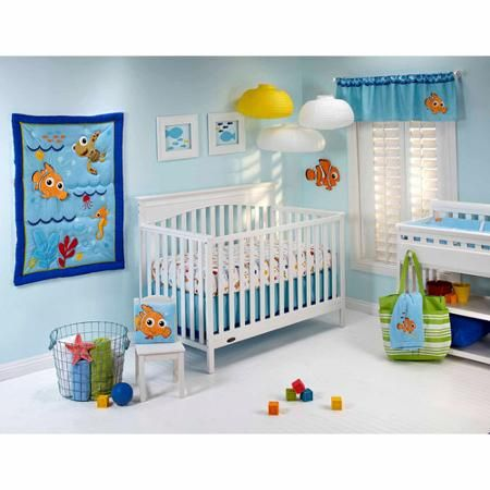 Disney Nemos Wavy Days Crib Bedding and Decor