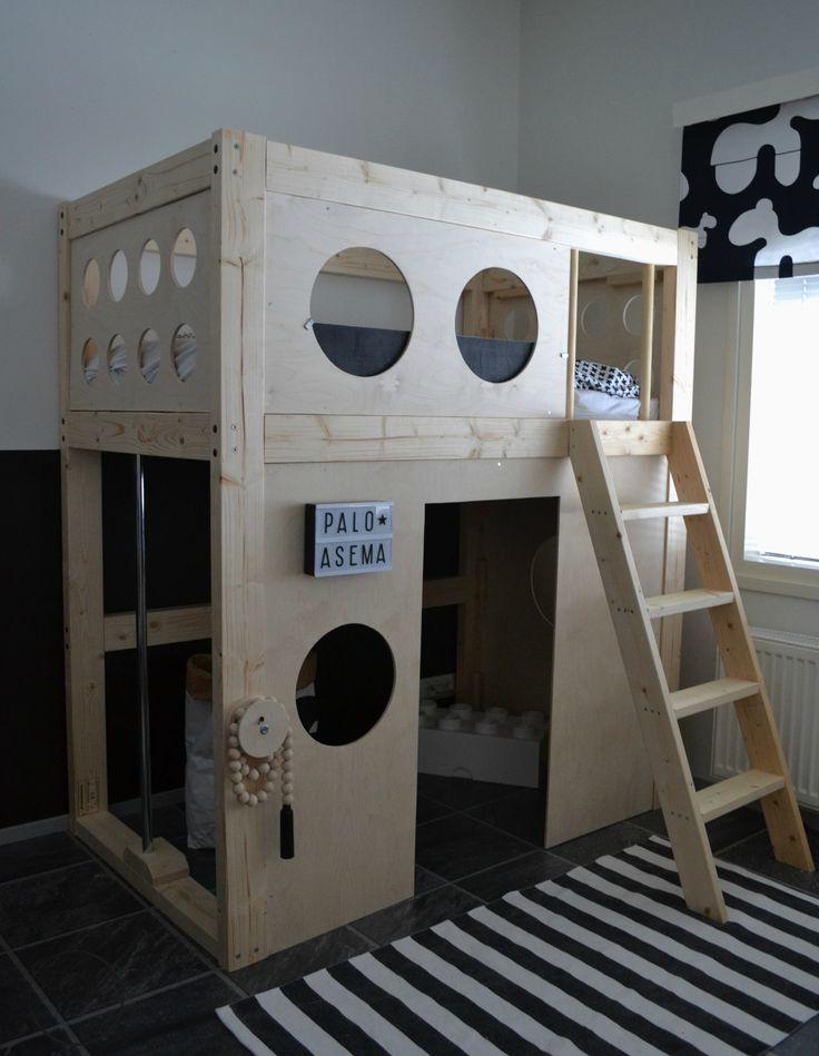 DIY skandinavian style fire station bed
