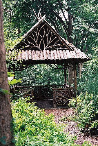 Rustic Gazebo | English Woodland Garden, Missouri Botanical … | Patrick Murray | Flickr