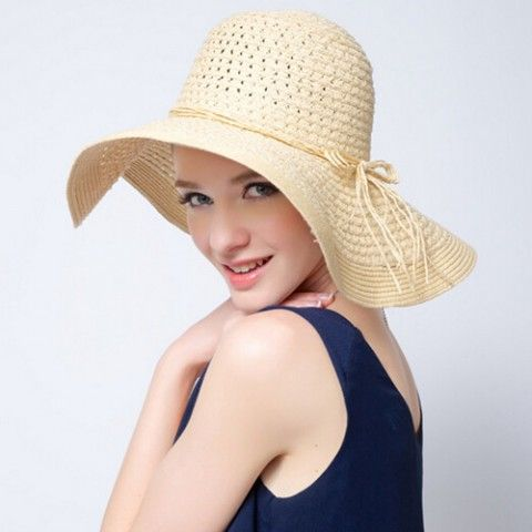 UV Floppy straw hat for women wide brim sun hats summer wear