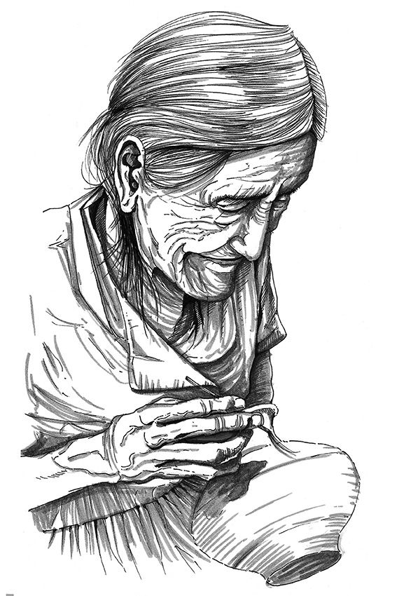 Retrato De Anciana Ceramista De La Selva Peruana Tarapoto Peru Dibujo A Mano Alzada Lapiz Y Tinta China Anciano Dibujo Selva Dibujo Dibujos A Mano Alzada