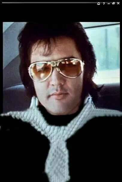 Elvis Presley and his personal EP sunglasses