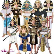 BOYS EGYPTIAN BOY PHARAOH KING KIDS FANCY DRESS COSTUME CURRICULUM ANCIENT NEW