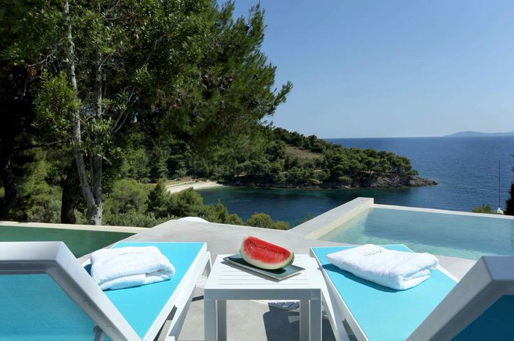 """#Comingsoon! The #exclusive #villa """"Kalyva Mare"""" provides the most #luxurious amenities, making it the perfect #destination for a #romantic #getaway! #KalyvaMare boasts of the superb #view and access to the #private coves of @Portocarrasgrandresort…! #portocarrasgrandresort #sithonia #halkidiki #sea #portocarras #holiday"""