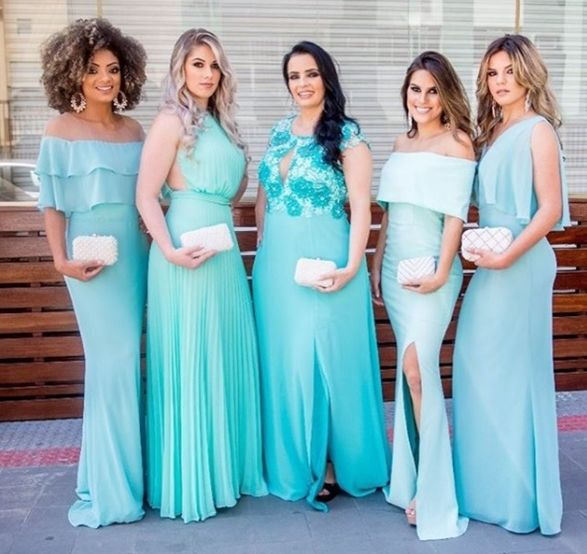 20 VESTIDOS TIFFANY PARA | Vestidos tiffany, Vestidos e