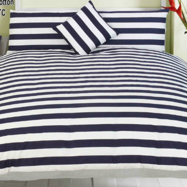 Navy Blue And White Striped Bedding Beautyy Pinterest