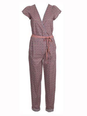 burda style, Schnittmuster - Bequemer Overall mit Bindebändern in der Taille - Nr. 129 B aus 05-2013 und zum Download