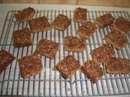 Chewy oat and coconut flapjacks.....