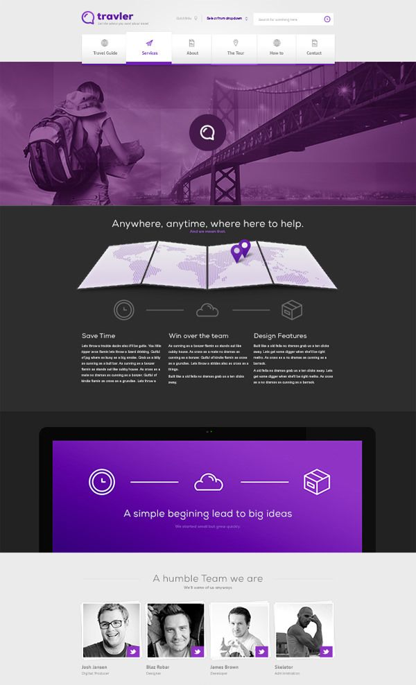 20 Free High-Quality PSD Website Templates