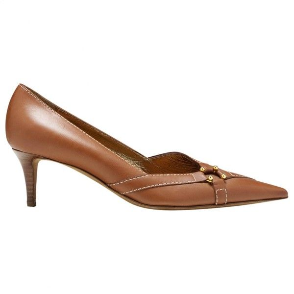 Céline Camel Leather Heels