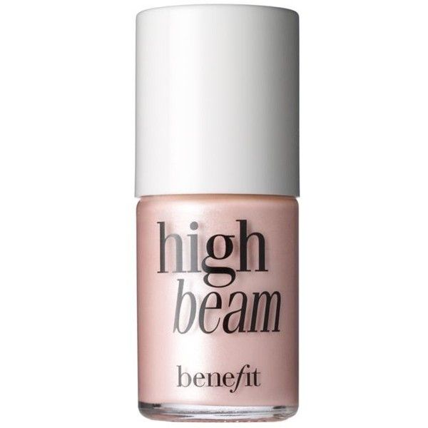 Benefit Cosmetics Satiny Pink High Beam Liquid Face Highlighter ($26) ❤ liked on Polyvore featuring beauty products, makeup, face makeup, beauty, filler, satiny pink, benefit cosmetics and benefit makeup