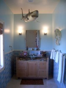 Shark decor bathroom