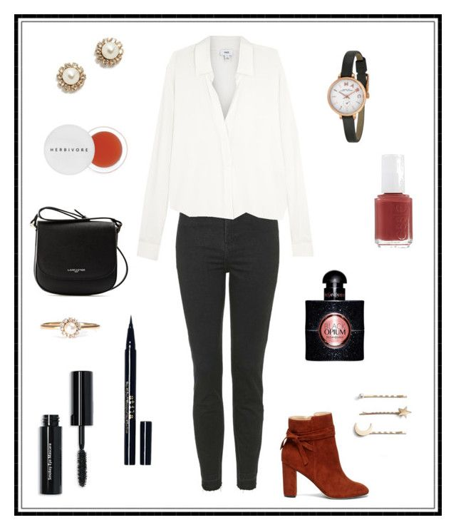 """""""#129"""" by e-elmedal on Polyvore featuring Topshop, Vince, Sole Society, Lancaster, Herbivore, Bobbi Brown Cosmetics, Stila, Essie, Marc Jacobs and Yves Saint Laurent"""