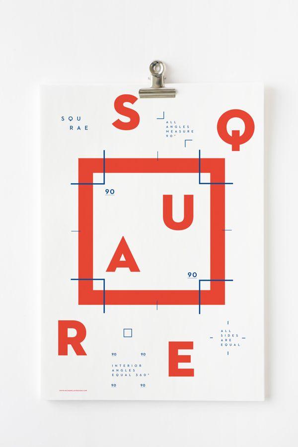 Shape Posters by Nick Barclay, via Behance
