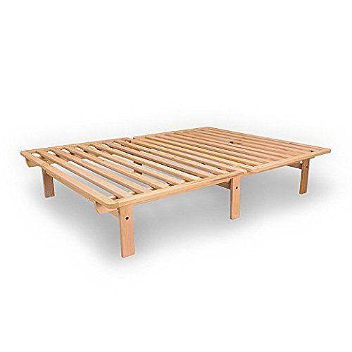 Full size bi fold futon sofa bed frame only for Divan bed frame size