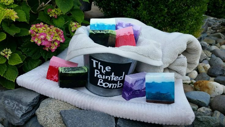 Poison Ivy Bar Soap // Pretty And Pink Soap // Midnight View // Purple Haze // Handmade Bar Soap / Beauty and Body by ThePaintedBomb on Etsy