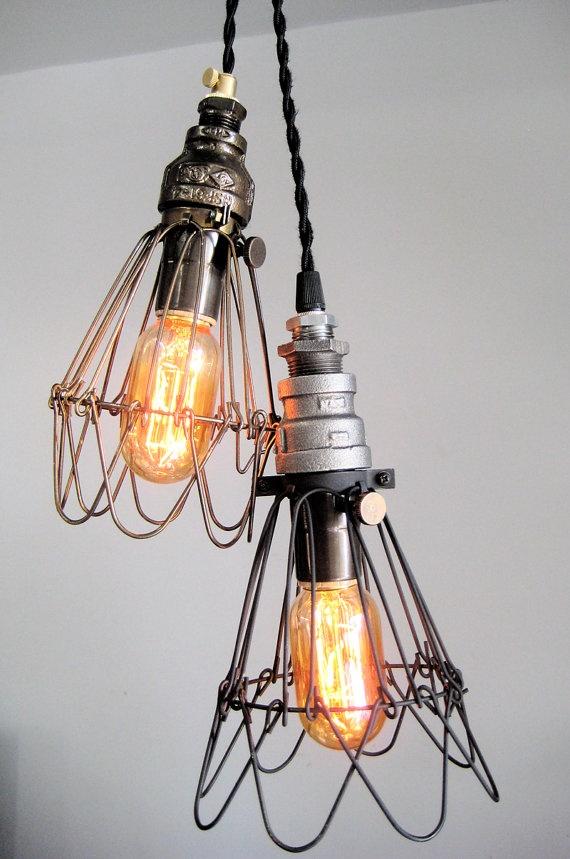 Cage Pendant Edison Light