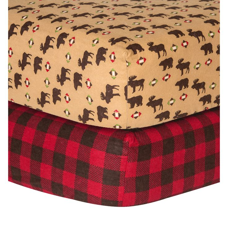 Trend Lab Northwoods Checkered Flannel Sheet 2 Pack