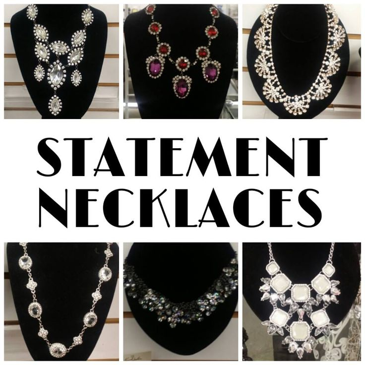 Turn simple to stunning with an eye-catching statement necklace.