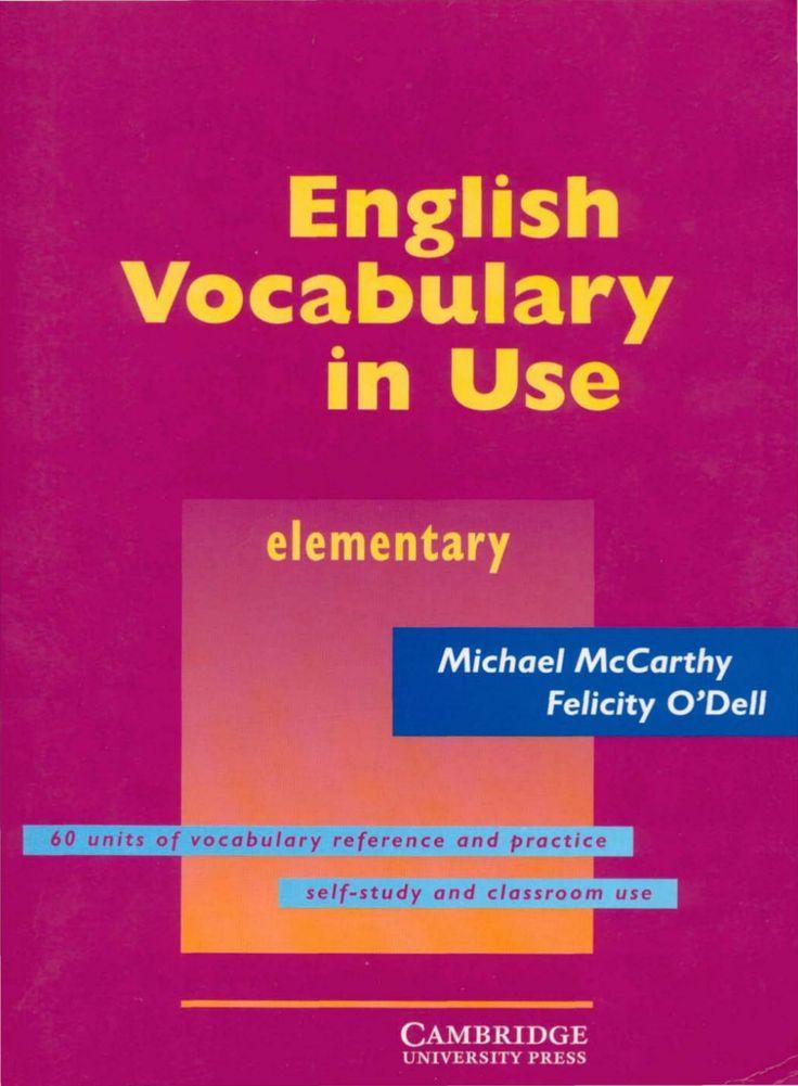 Cambridge english vocabulary in use - elementary by Juan Valencia via slideshare