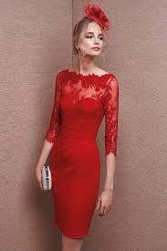 Resultado de imagen para vestidos rojos cortos con encaje