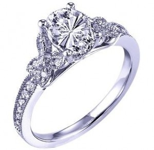 Oval Diamond Butterfly Engagement ring