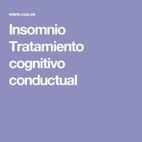 Insomnio Tratamiento cognitivo conductual                                                                                                                                                                                 Más