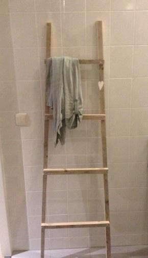 20170420&215215_Ladder Voor Badkamer ~ , Ladder Voor, Made Vans, Voor Handdoeken, En Handdoeken, Leuk Ladder