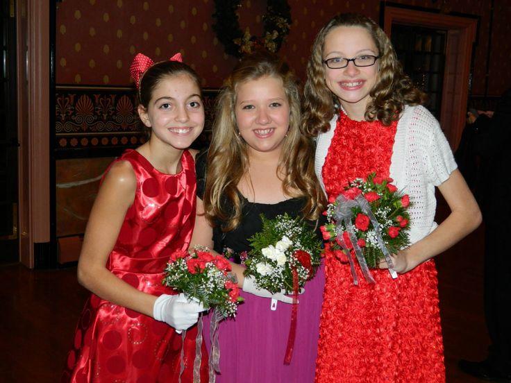 Beautiful 6th grade girls at Holly Ball Holly Ball