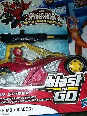Ultimate Spiderman Web-Warriors Blast N Go IRON SPIDER - New