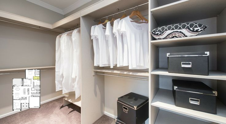 Storage is made easy in this expansive bedroom wardrobe. #weeksbuilding #home #house #bedroom #interior #decorating
