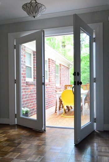 Replace Sliding Glass Doors With French Doors As They Did