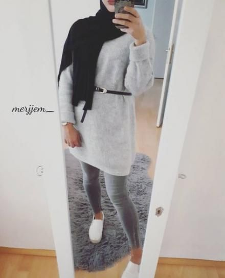 Trendy Style Hijab Outfit muslimischen Ideen