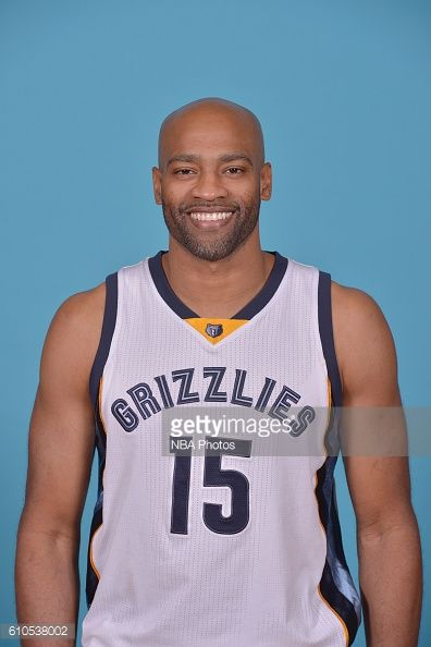 Vince Carter of the Memphis Grizzlies poses for a head shot during the 20162017 Memphis Grizzlies Media Day on September 26 2016 at FedExForum in...