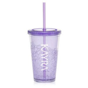 Freezer Tumbler. Double Wall Acrylic Tumblers Freezer Tumblers Stay Cool Longer! Price Includes: 1 Double Wall Acrylic Tumbler 1 Colour Imprint 1 Straw
