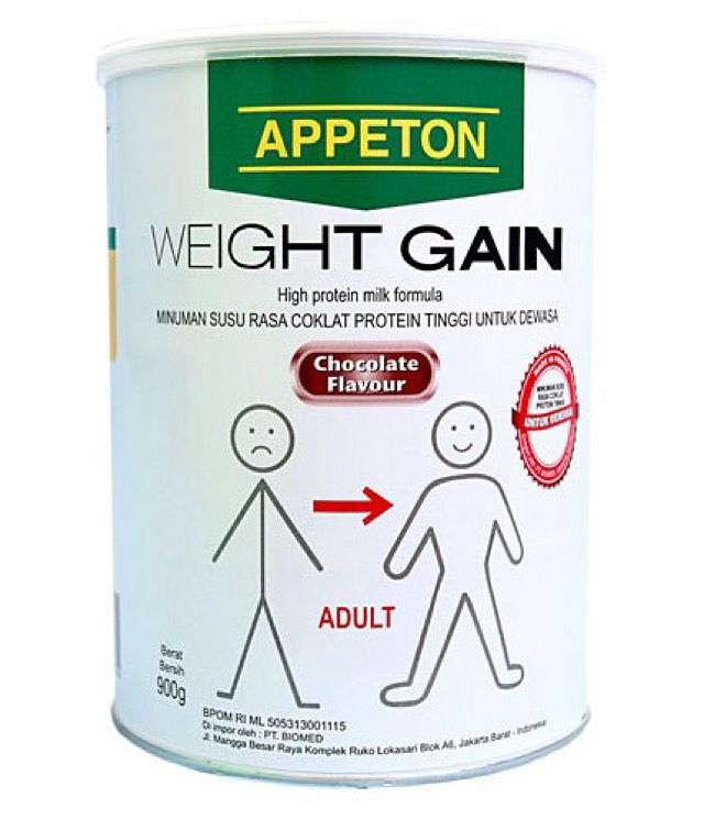 Hi Sahabat Appetonian!! Berat Badan kurang Ideal ?  Rubah penampilan kamu agar berat badan kamu padat berisi Dengan Appeton Weight Gain Adult / Child ⭐ PROMO GILA GILAAN UNTUK KALENG PENYOK!! ❤️ Info lebih lanjut bisa hubungi ke: ☎: TELP/SMS/WA: 021 53661111 atau 083899995454 Pin BB : 58AB574B  #appeton #appetonweightgain #weightgainadult #Weightgainchild #sehatalami #suplemenremaja #suplemenanak #penambahberatbadan