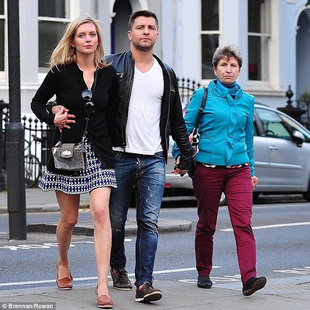 Ladies in his life: Pasha Kovalev enjoyed a day out with his girlfriend Rachel Riley and m...
