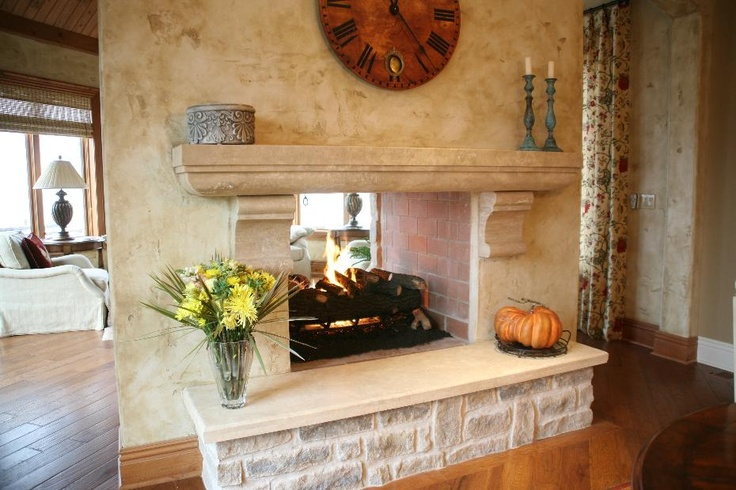17 best images about for chris on pinterest fireplaces for Double sided fireplace design