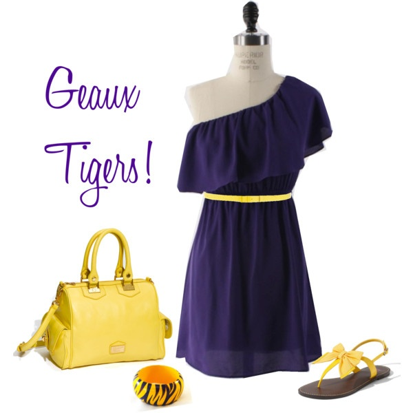 LSU Game Day! Also for JHS Aggies minus the bracelet!