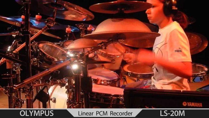 03.06 Igor Falecki - solo drum clinic Grodzisk Maz. ( 11 y old )