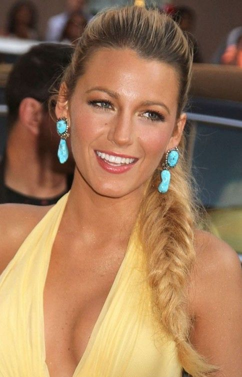 Blake Lively Long Hairstyle: Fluffy Braid