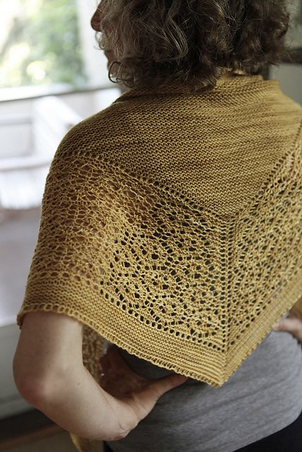 Flukra by Gudrun Johnston, knitted by G-knits | malabrigo Sock in Ochre
