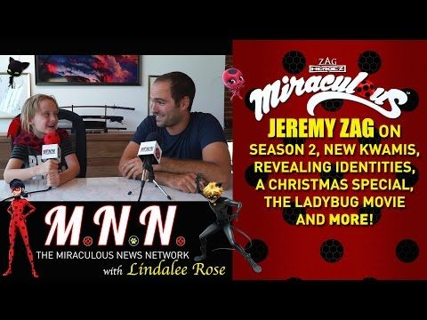 Lindalee & Jeremy Zag talk Miraculous Ladybug - (Spoilers) MNN - Ep.2 - YouTube