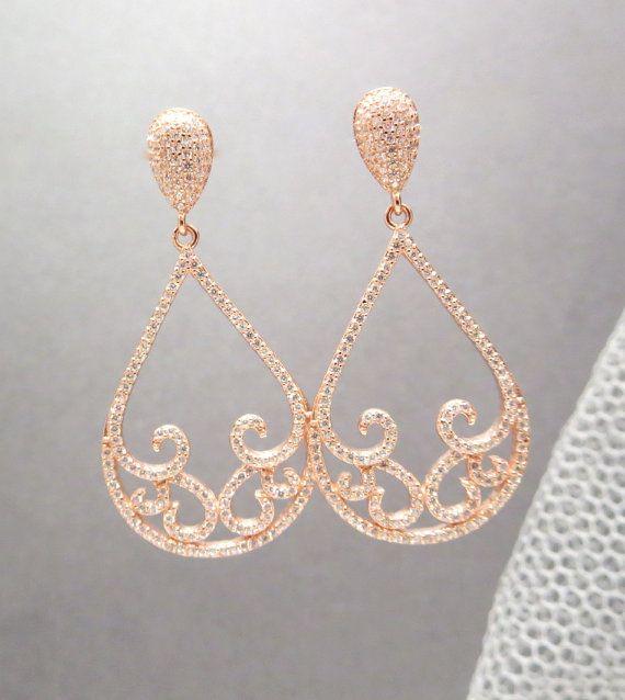 Best 25+ Gold chandelier earrings ideas on Pinterest | Rose gold ...