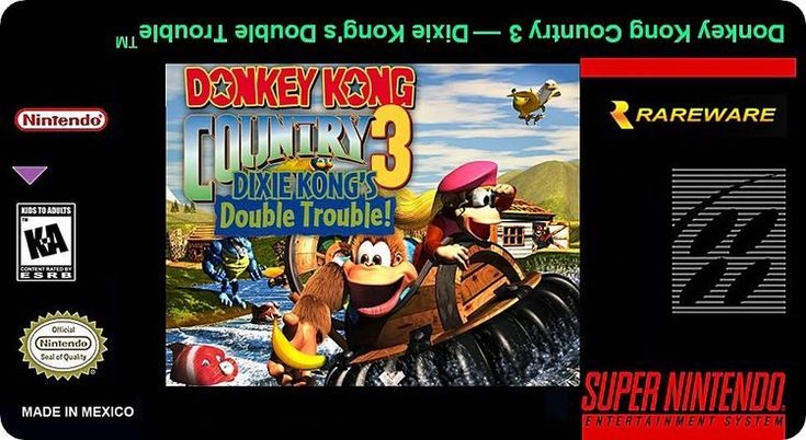 Super Nintendo Labels Donkey Country 3
