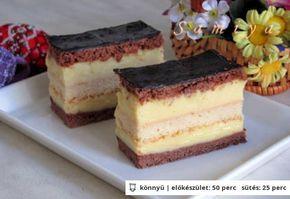 Rumos-csokoládés szelet
