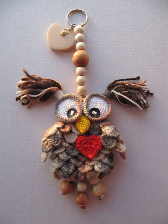 Suspended decoration Loving Owl Love Owl pendant от KrugerShop